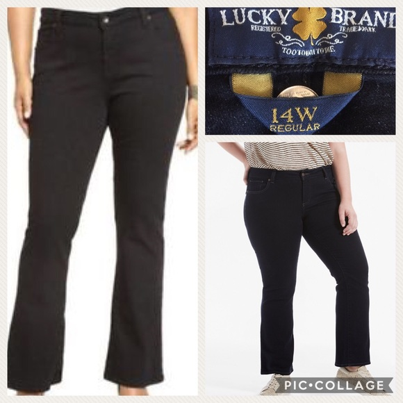 d3da6ec4969 Lucky Brand Ginger Bootcut Jeans 14w NWOT Black